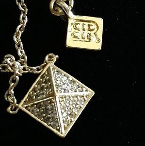 Vintage banana republic pyramid necklace